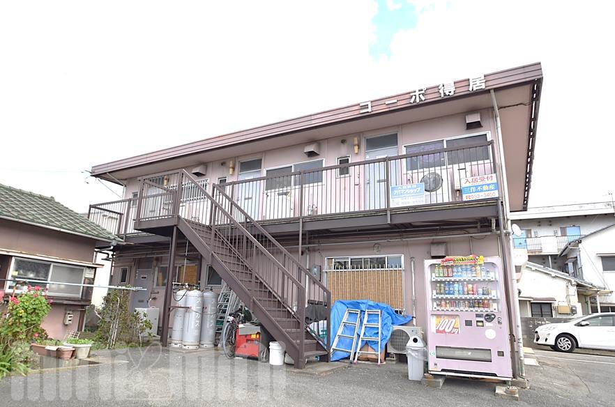 物件番号: 1118859015 コーポ得居 松山市土居田町 2K アパート 外観写真
